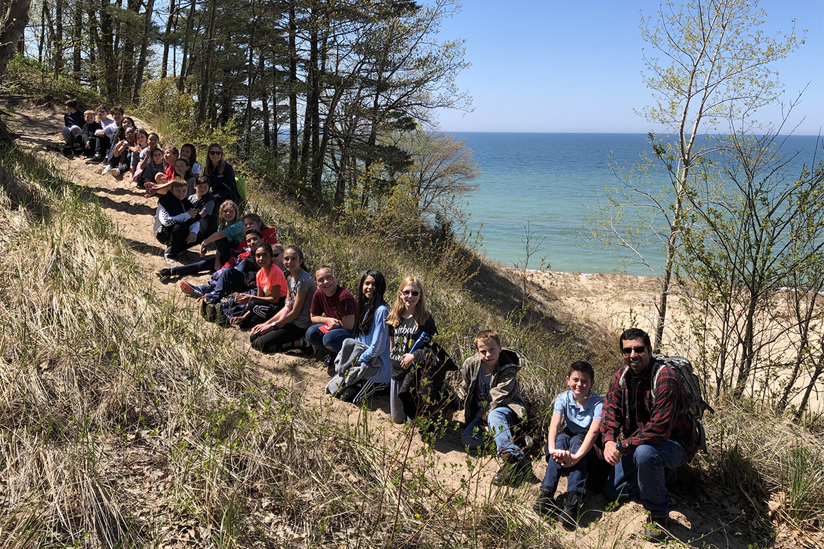 St. Mary Crown Point's Environmental Club Enjoys Hike at the Indiana Dunes