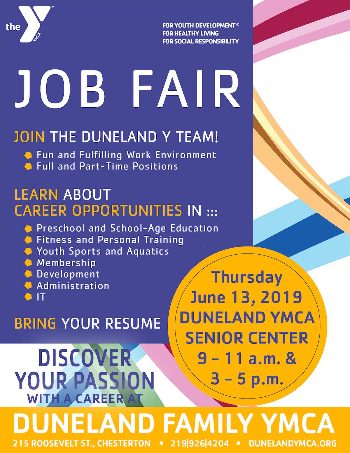 Duneland YMCA Job Fair