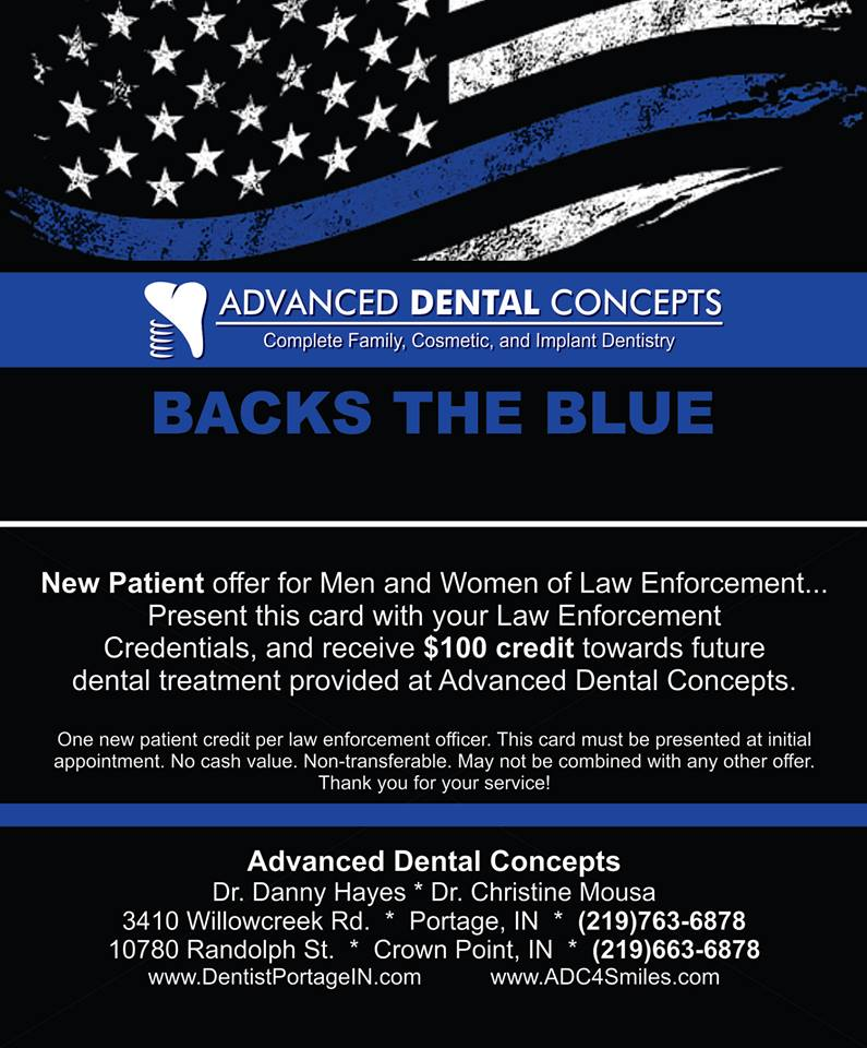 Advanced Dental Concepts Backs the Blue