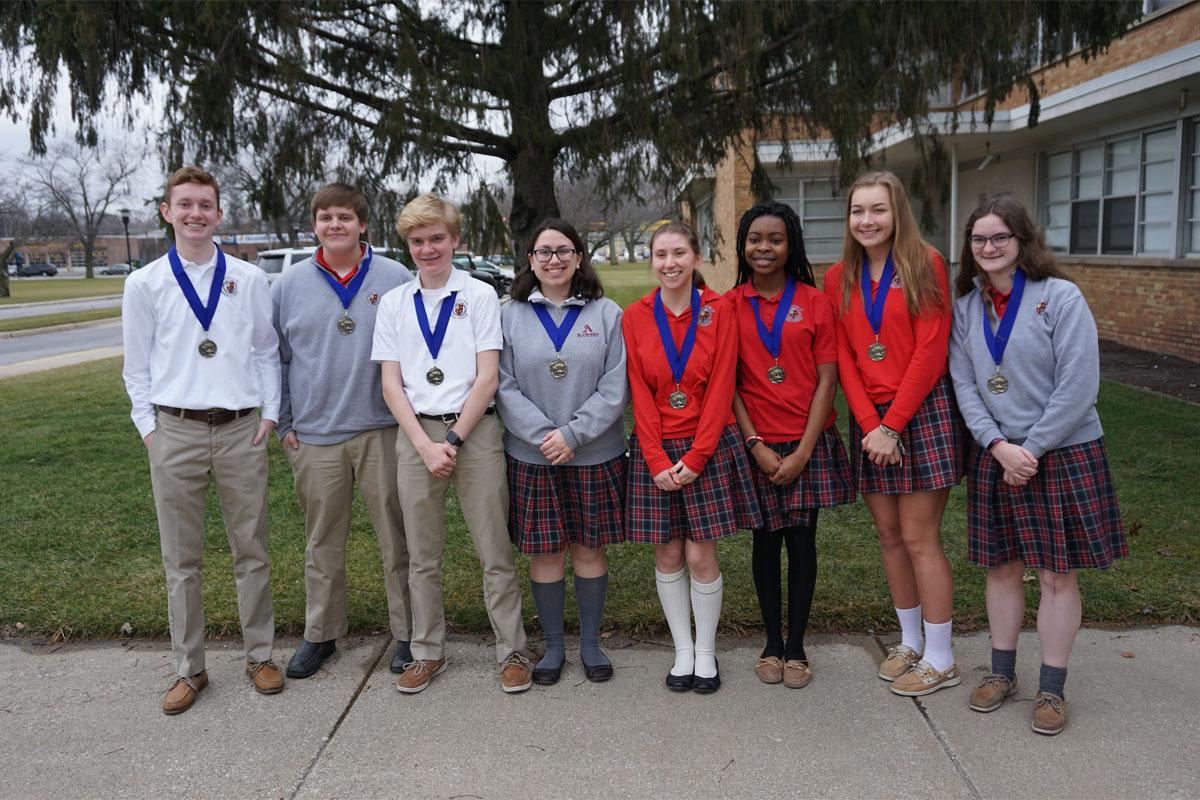 Andrean High School Quiz Bowl Wins Conference Tournament
