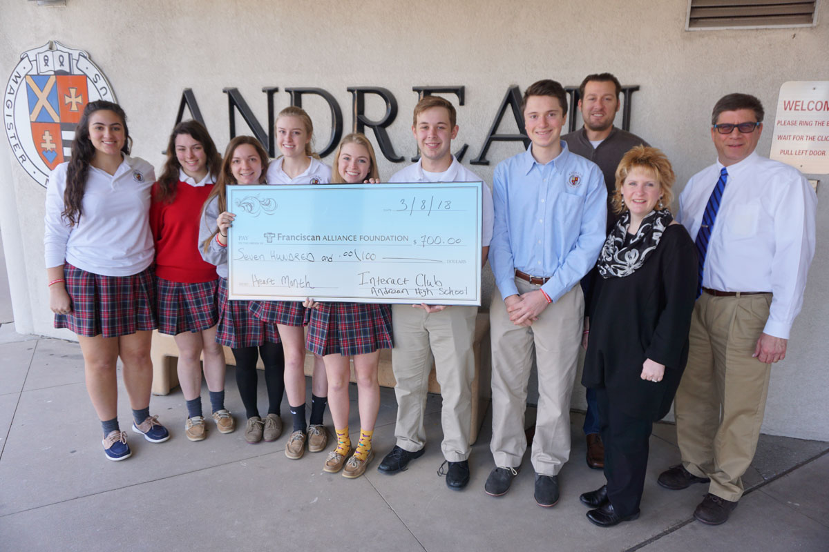 Andrean's Interact Club Raises Money for American Heart Month