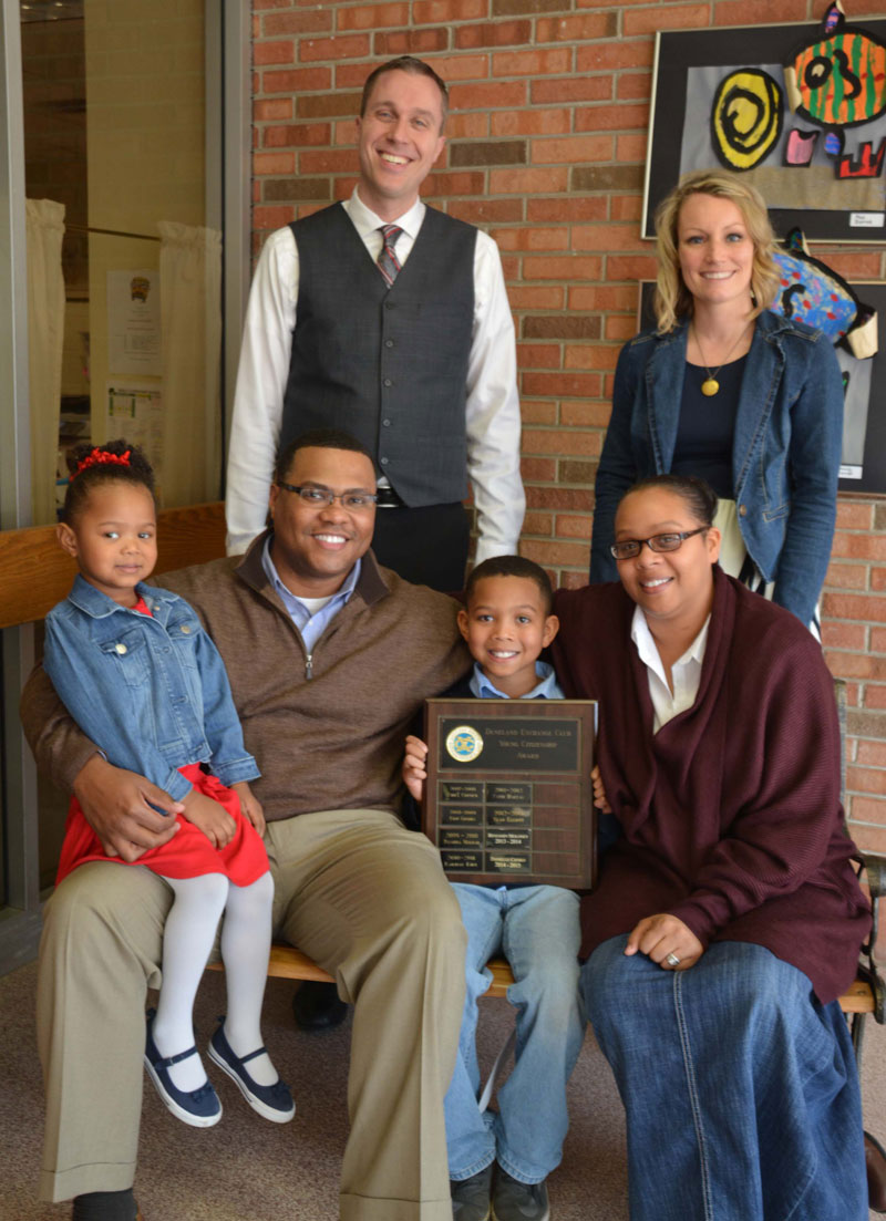 Lutrell Kirk, III Receives 2016 Bailly Elementary Young Citizen Award
