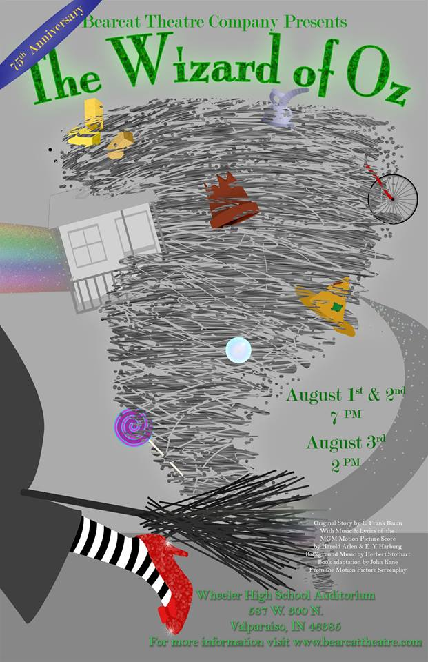 Bearcat Theatre Company Presents the Wizard of Oz August 1-3