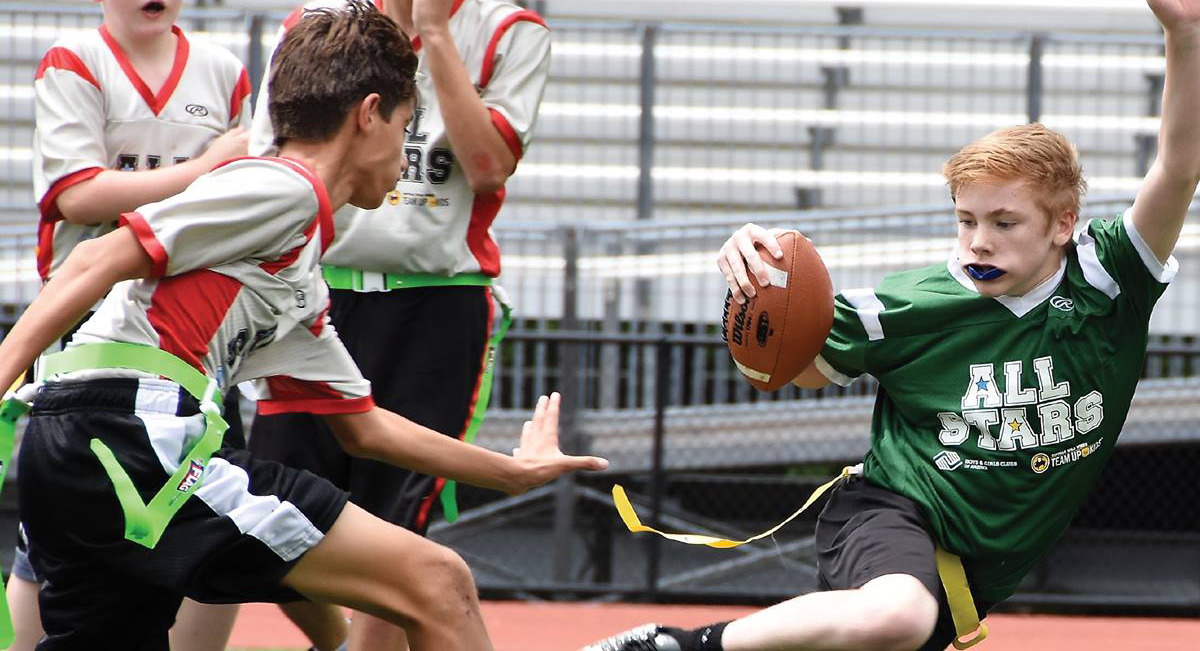 Summer Flag Football League Registration Is Open Boys & Girls Clubs of Greater Northwest Indiana's Cedar Lake, Duneland, Lake Station, Portage, South Haven, and Valparaiso Clubs