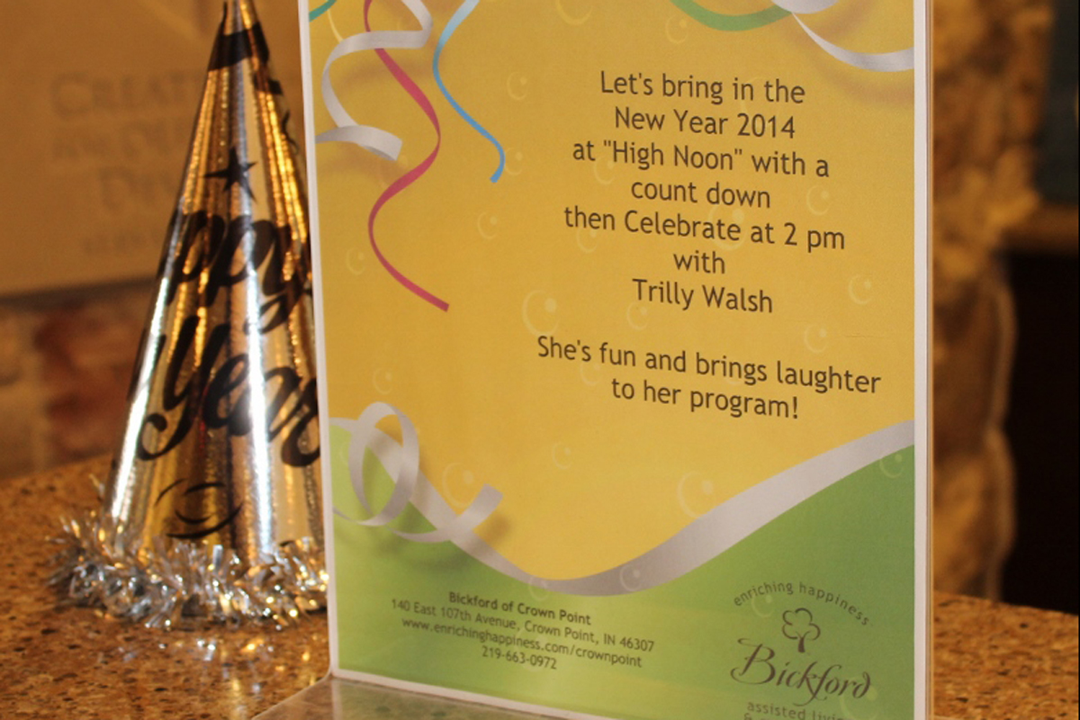 A New Year Celebration at Bickford Assisted Living and Memory Care
