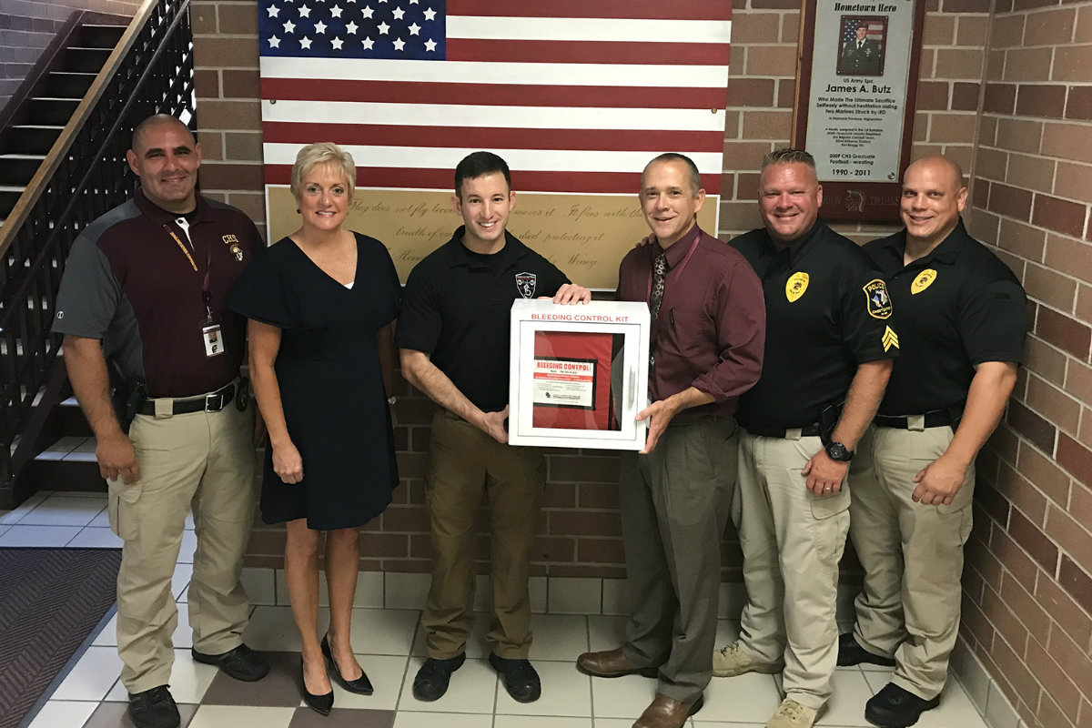 Public Access Bleeding Control Station Donated to DSC