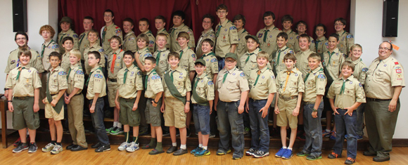 Troop 929 in Chesterton Celebrates Court of Honor
