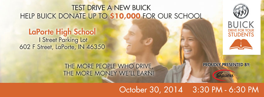 Raise Funds for La Porte High School with Sauers Buick GMC!