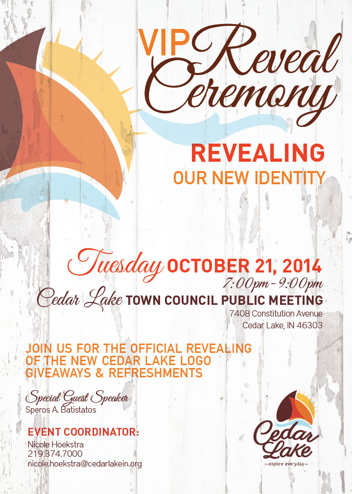 Town of Cedar Lake to Hold Event to Reveal New Logo Design on October 21