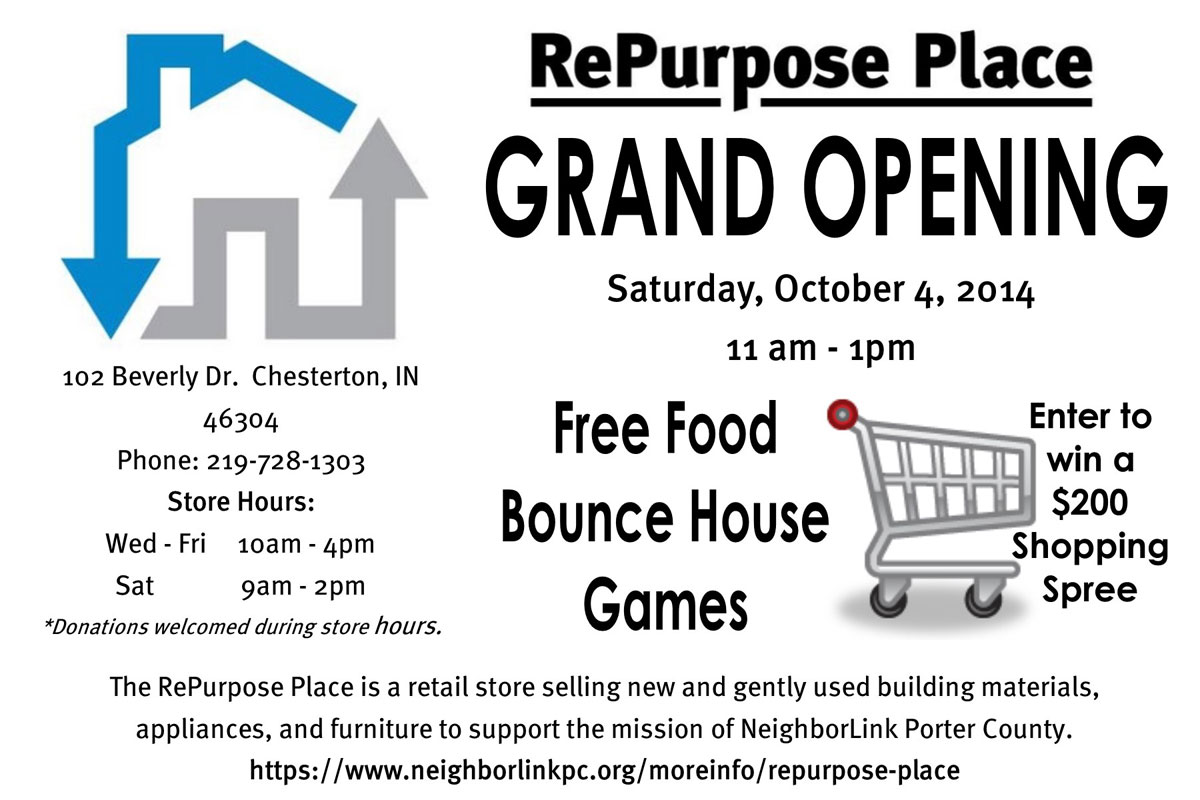 NeighborLink Porter County Presents the Grand Opening of the RePurpose Place