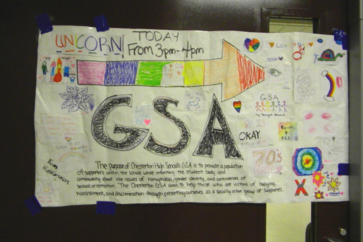 GSA at Chesterton High School Promotes Tolerance of All Students