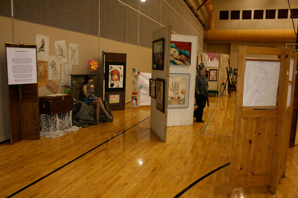 CHS-Upper-Gym-was-transformed-into-an-art-gallery