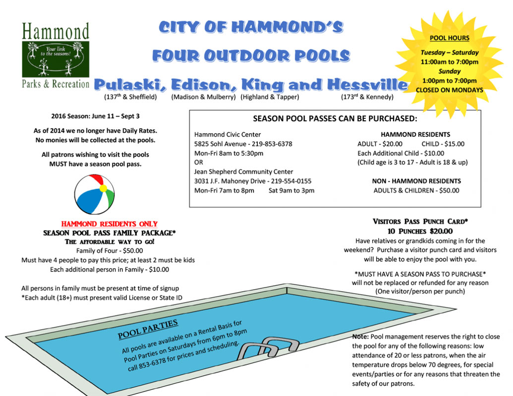 City-of-Hammond-Pool-Hours-2016
