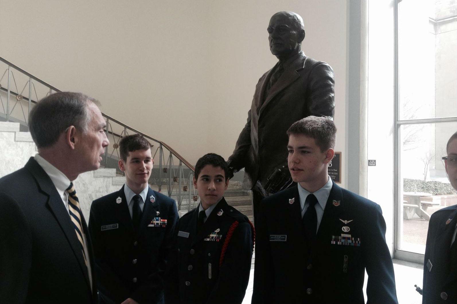Civil Air Patrol Cadets visit Washington-1