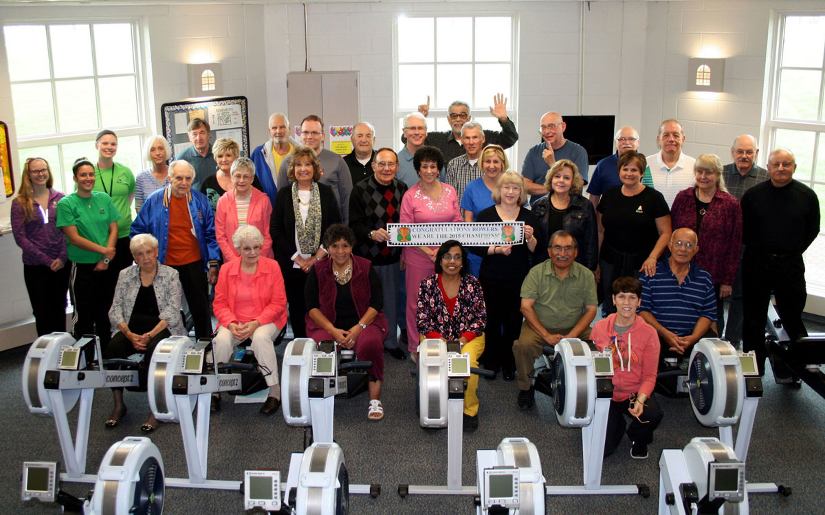 Community Hospital Fitness Pointe Members Row, Row, Row their way into First Place Again