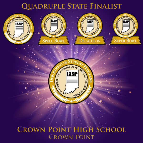 Crown Point High School IASP Quadruple State Finalist