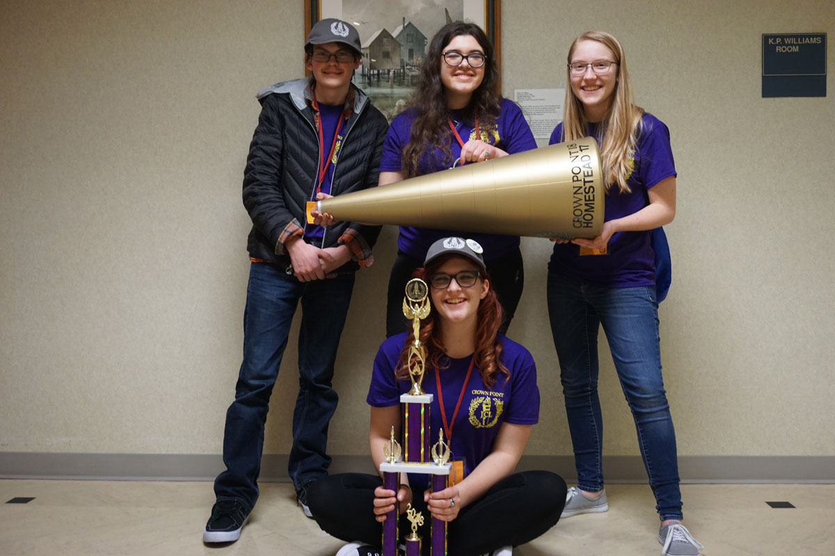 Crown Point High School Latin Club Wins State Again in 2018