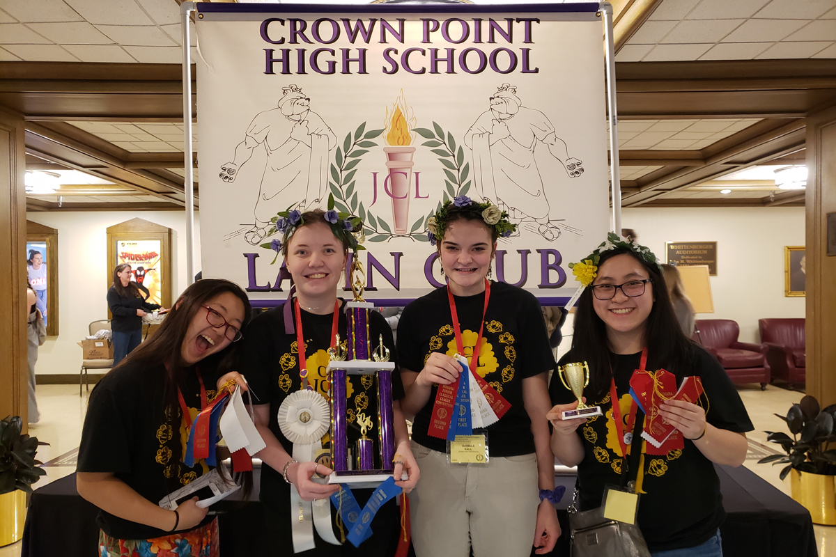 Crown Point High School Latin Club Wins State in 2019