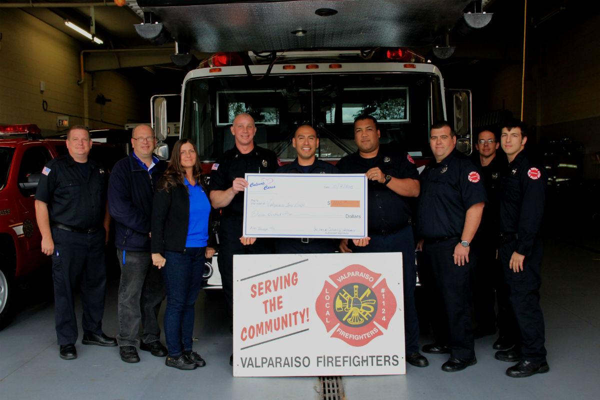 Culver's of Valparaiso Presents Check to Valparaiso Fire Department