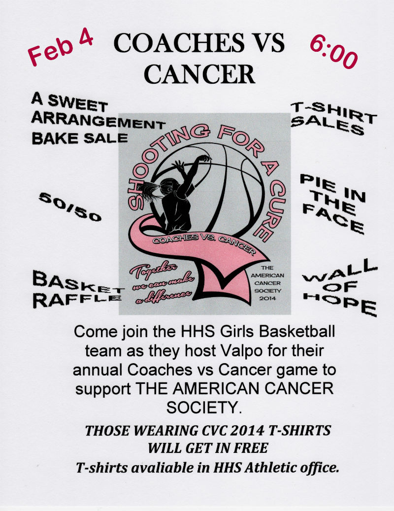 Coaches for Cancer Benefit at Hobart High School