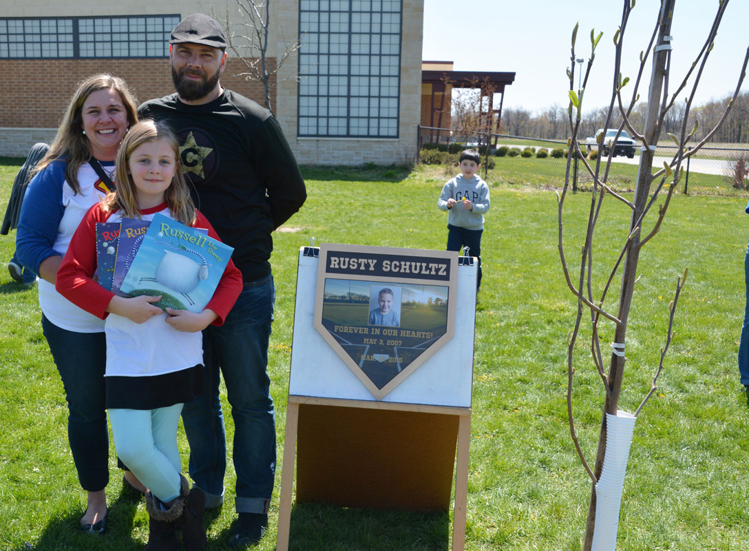 Liberty Elementary Honors Rusty Schultz
