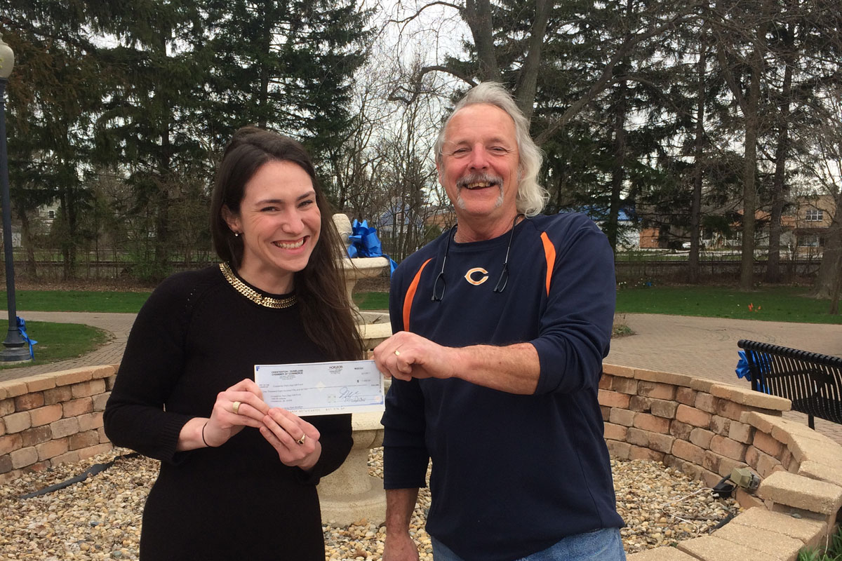 Duneland Chamber Presents Chesterton Parks Department With Donation