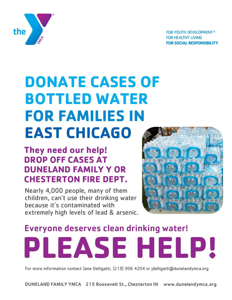 Duneland Y Joins the Water Collection Effort to Help East Chicago Families