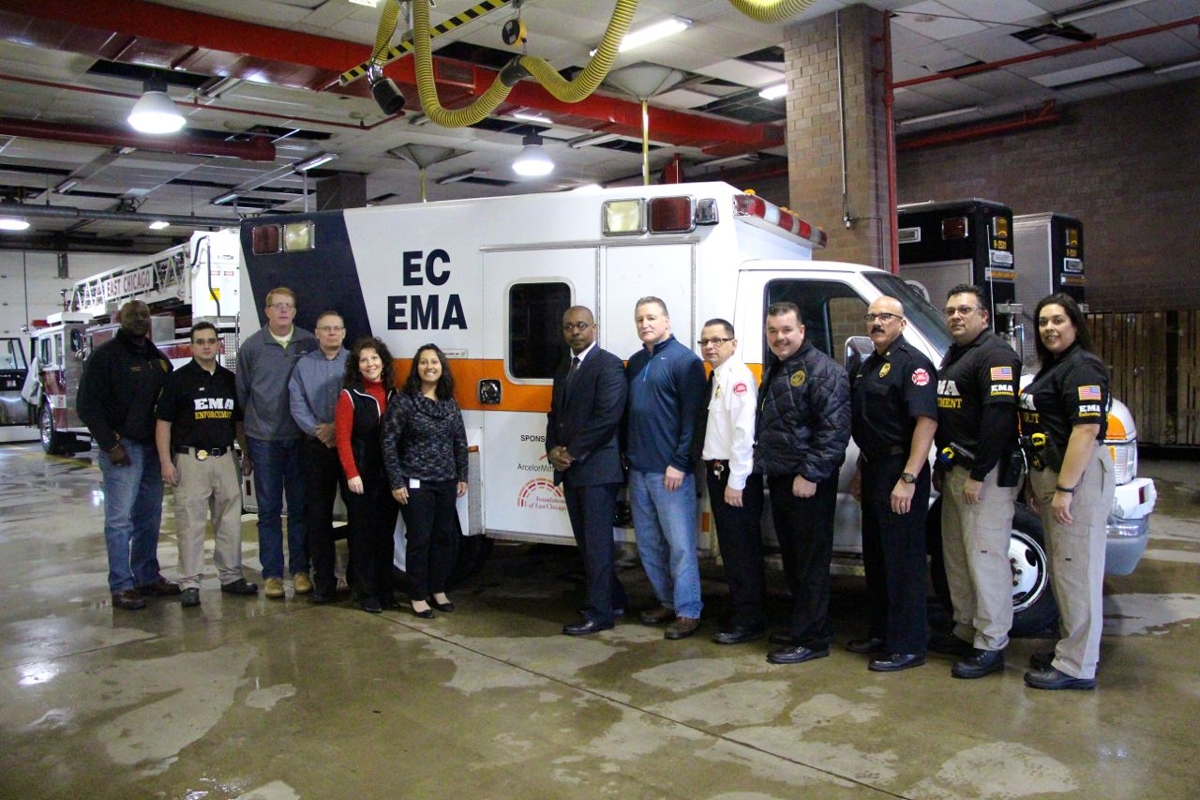 East Chicago's Emergency Management Agency Recommissions Emergency Vehicle