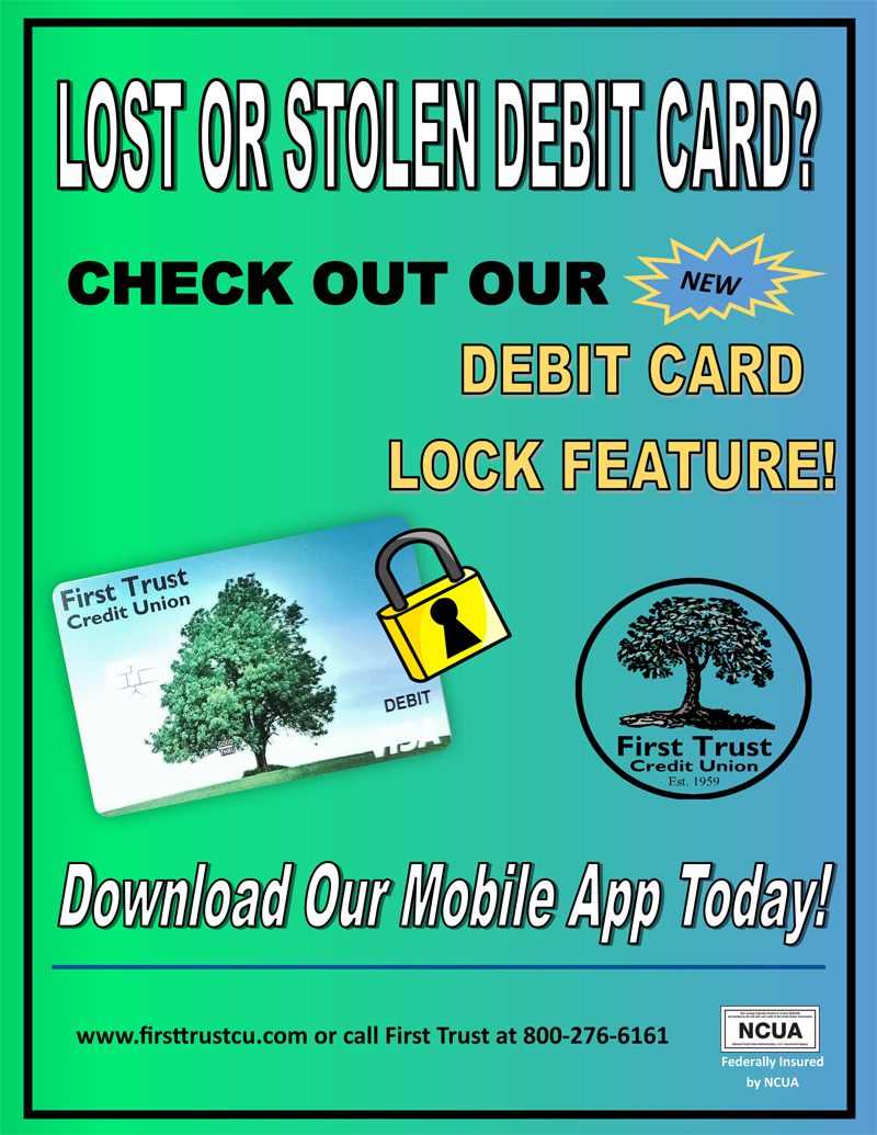 First Trust Credit Union Introduces Debit Card Lock Feature