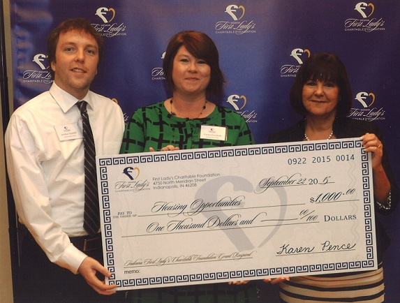 First Lady Karen Pence Awards Grant to Housing Opportunities