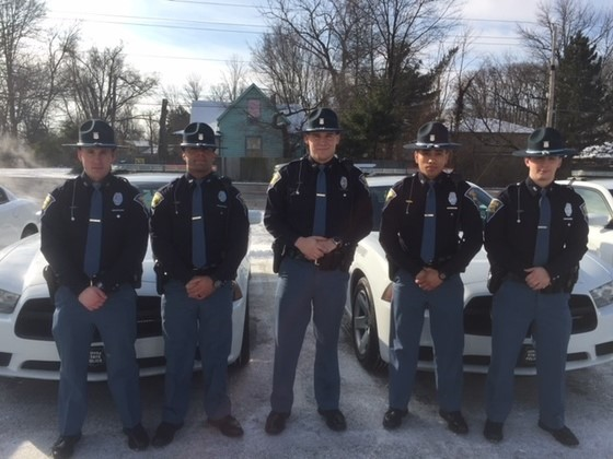 Five New Lowell Troopers Received Their Cars for Solo Patrol