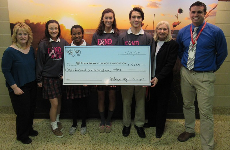 Franciscan-Health-Crown-Point-Andrean-Students-Raise-Money-to-Fight-Breast-Cancer