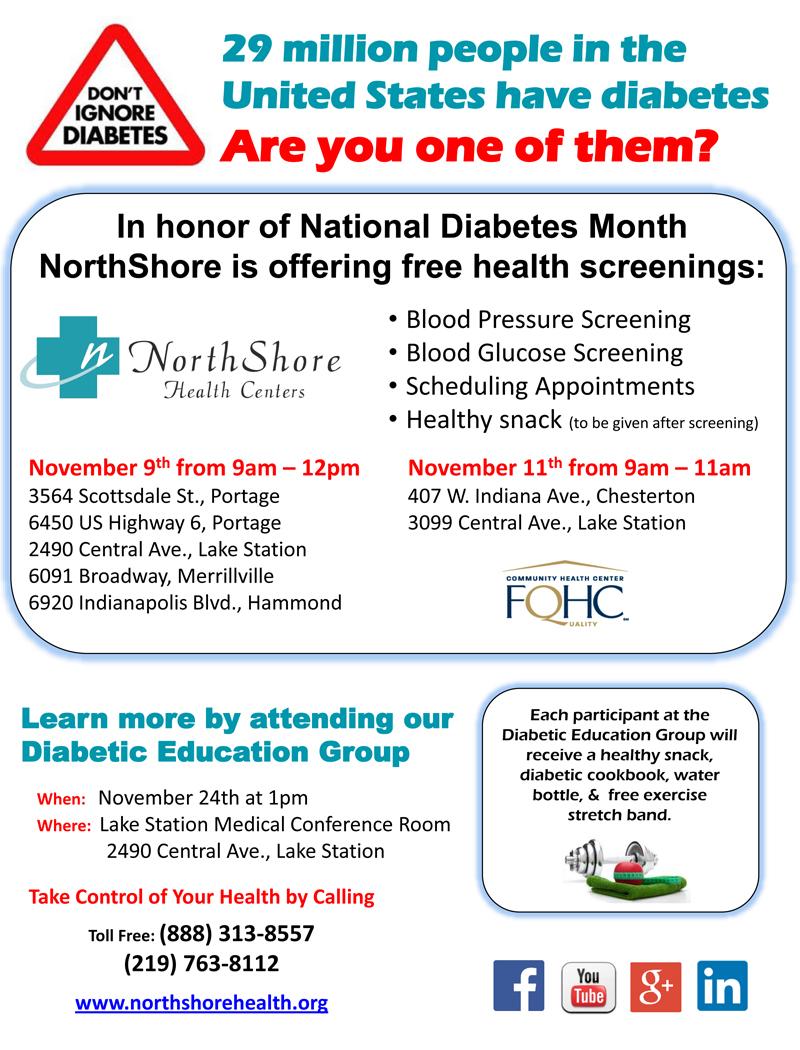 Free Diabetic Screenings Flyer