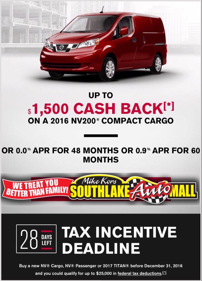 Get Up to $1,500 Cash Back with Southlake Nissan