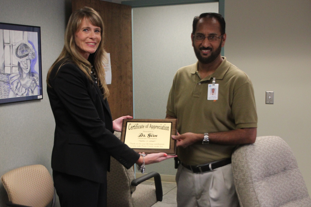 Northshore Health Centers' Dr. Girn Awarded as Smoke-Free Champion by Anthem Medicaid