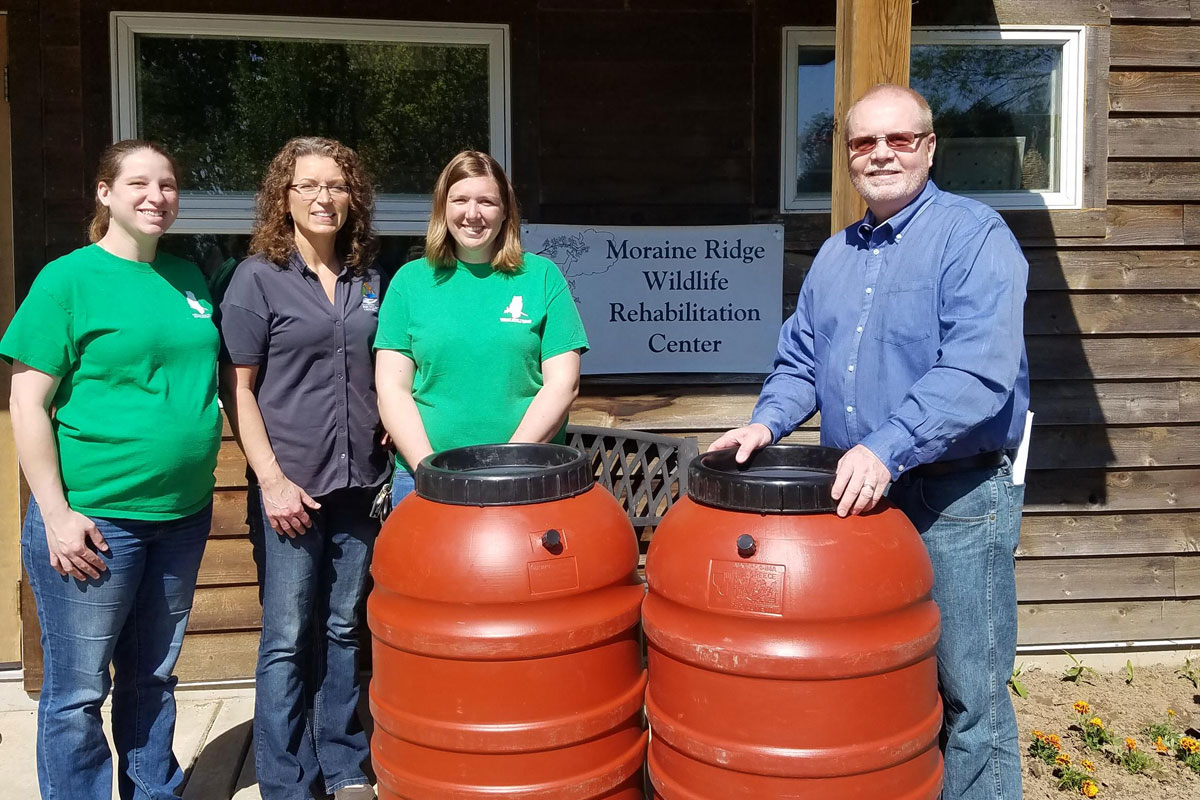 Grant-Provides-Rain-Barrels-for-Redevelopment-Commission-Wildlife-Rehab-Center