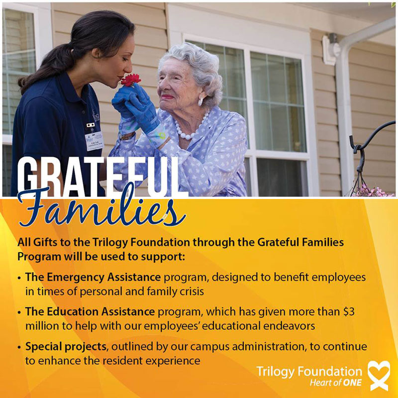 Trilogy Foundation's Grateful Families Program Provides a Way to Thank Caregivers in 2016
