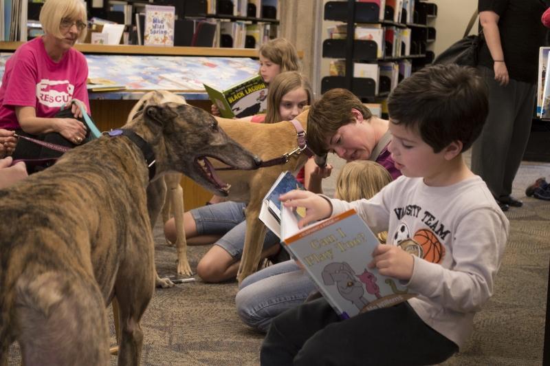 """Greyt"" Readers Read to American Greyhound"