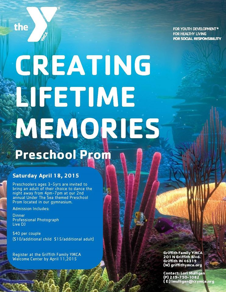 Coming up on April 18, 2015 is our Preschool Prom!