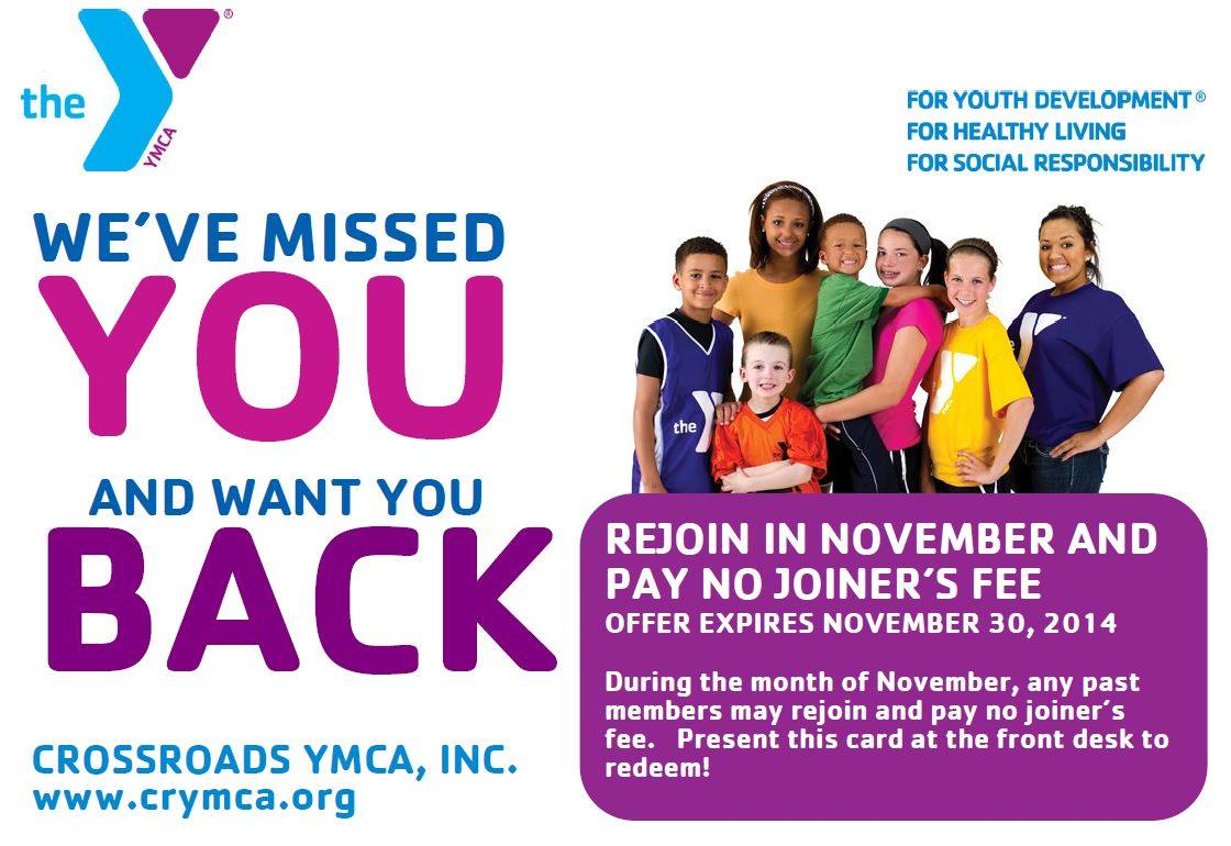 Great Offer Available for YMCA Members Looking to Rejoin