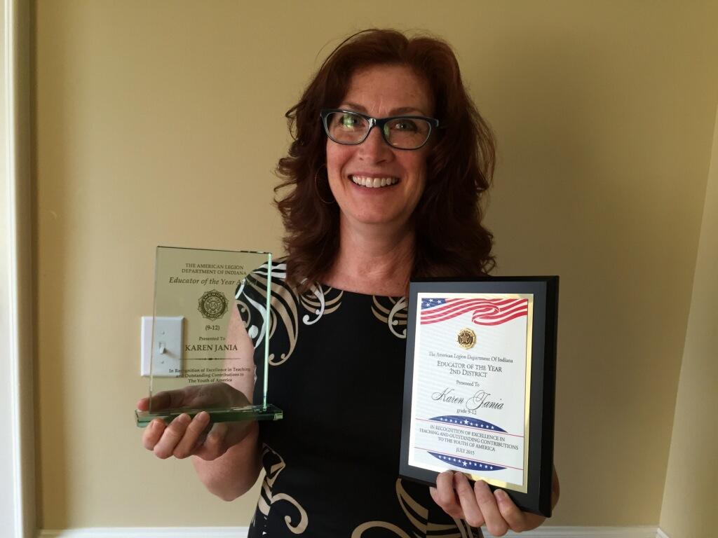 Hebron High School Teacher Wins 2015 American Legion Teacher of the Year