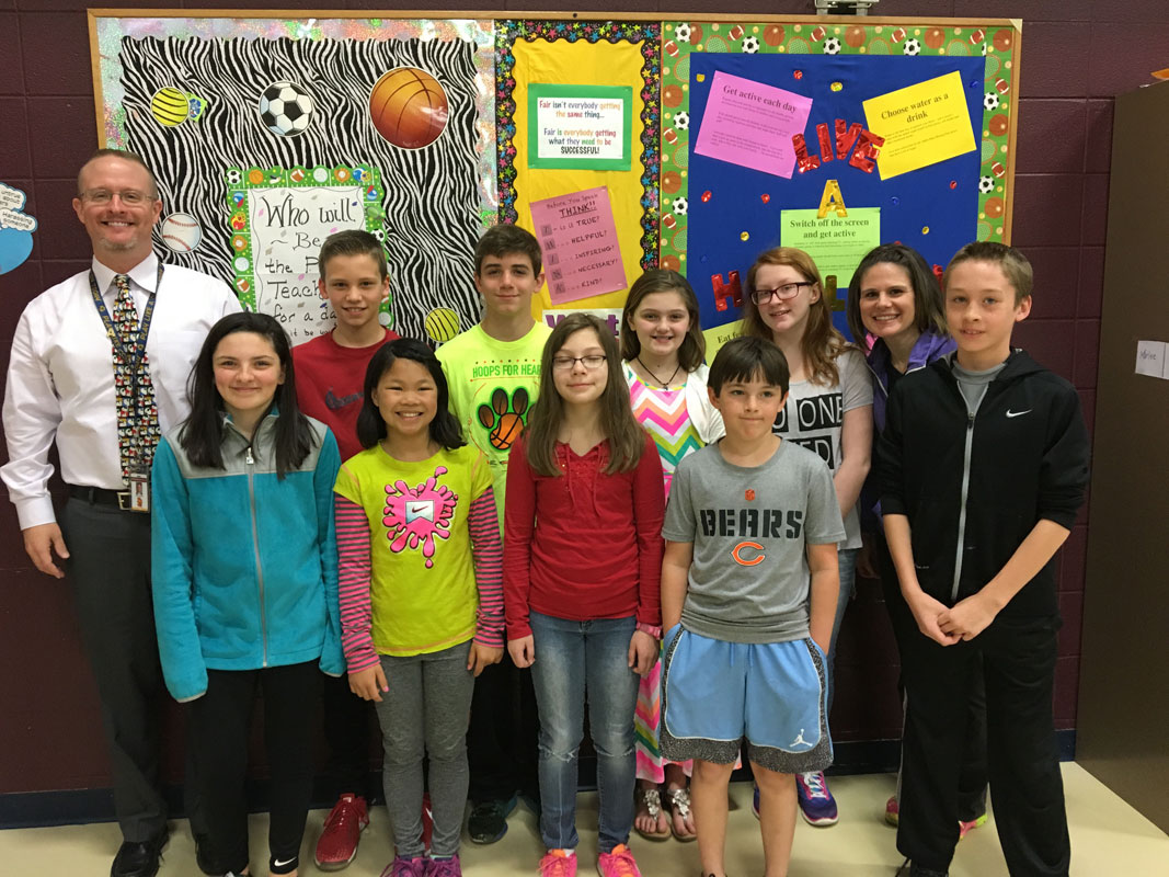 Westchester Intermediate School Participates in 2016 Hoops for Heart