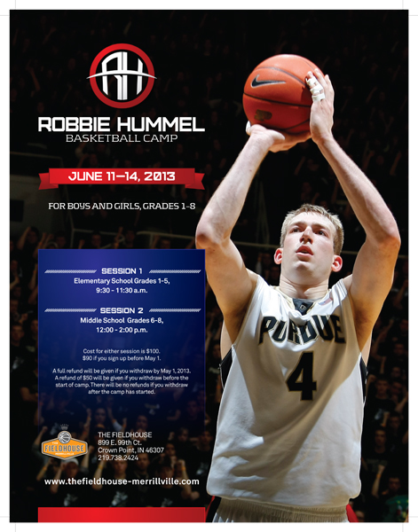 Robbie Hummel Basketball Camp to Teach Boys and Girls Basketball Fundamentals and Concepts