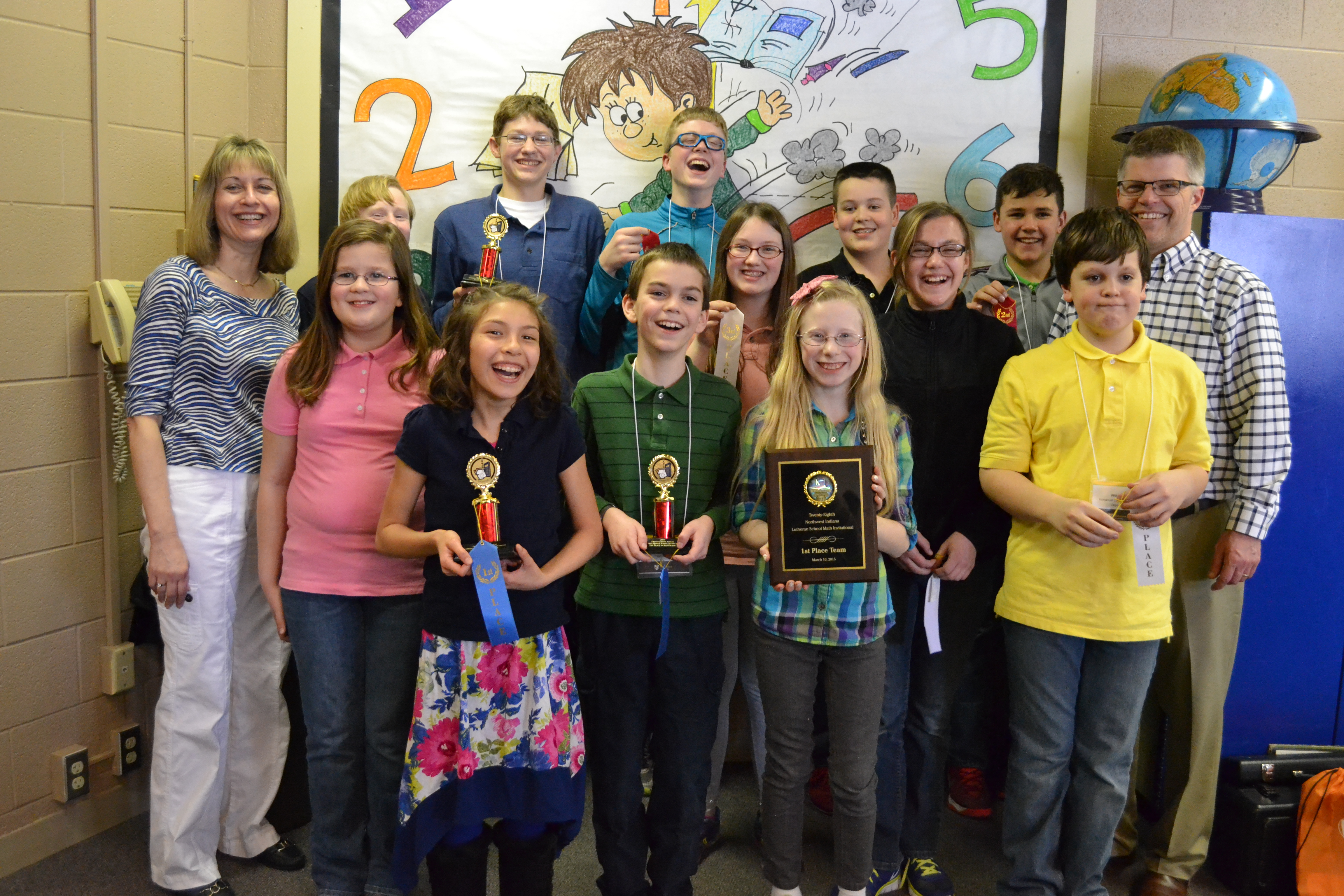 Immanuel Wins 2015 Math Bowl