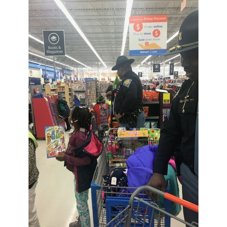 Lowell Troopers Participate In Shop With A Cop