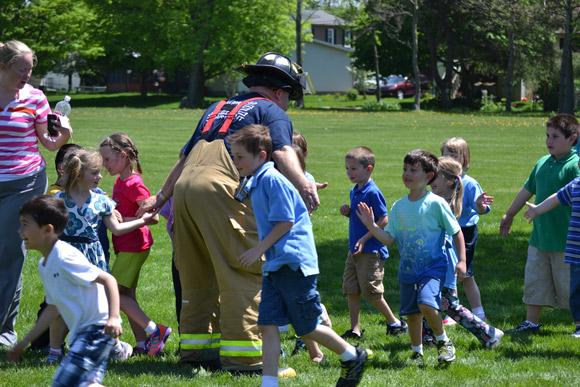 Valpo Fire Department Visits Immanuel Lutheran School