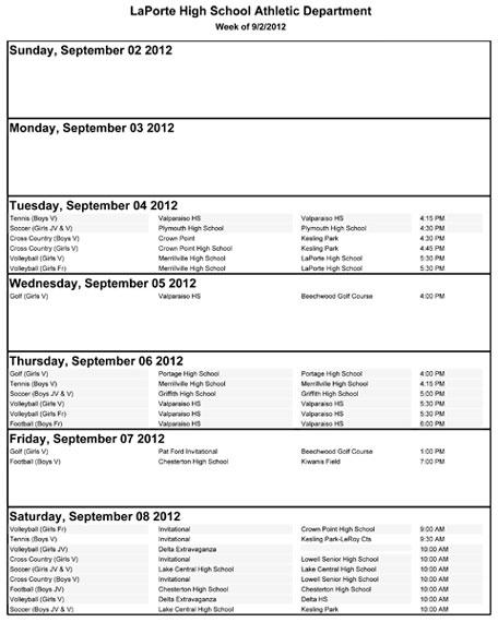 la-porte-schedule-9-2-8-12