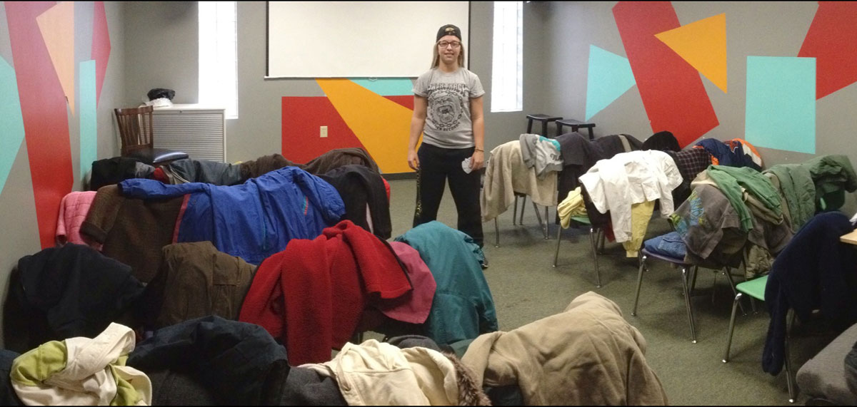 Lambda-Pi-Eta-Chapter--Collects-Coats