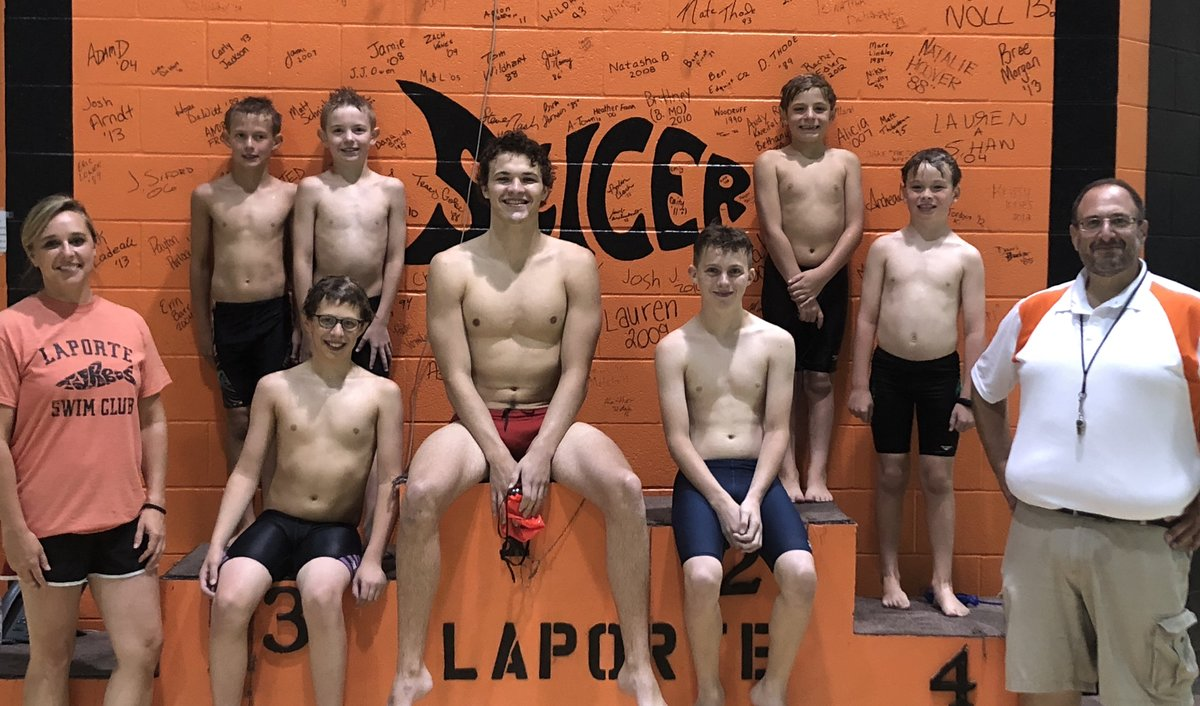 La Porte Community Turbos Swim Club Qualify for State in 2018