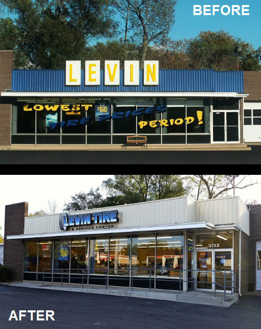 levin-tire-merrillville-before-after
